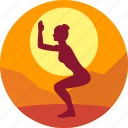 female, fitness, health, india, meditation, yoga icon