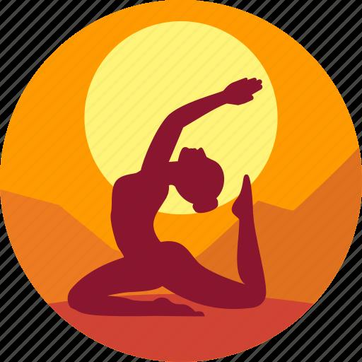 female, health, india, meditation, yoga icon