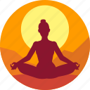 exercise, fitness, health, india, meditation icon