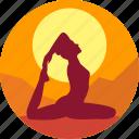 exercise, female, health, india, meditation