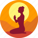exercise, female, fitness, health, india, yoga icon