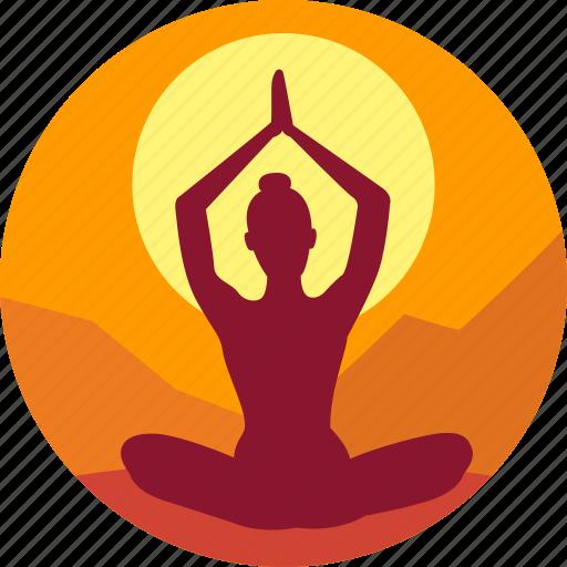 exercise, fitness, health, india, meditation icon