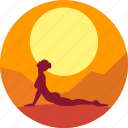 fitness, health, india, meditation, sun, yoga icon