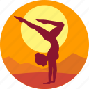 exercise, female, fitness, health, meditation icon