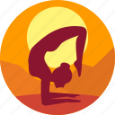 exercise, female, health, meditation, morning icon