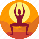 exercise, female, health, india, meditation icon