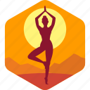 balance, exercise, india, meditation, relax icon