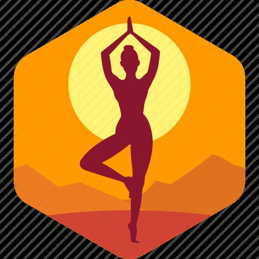 balance, exercise, india, meditation, relax icon