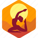 female, health, india, meditation, yoga icon
