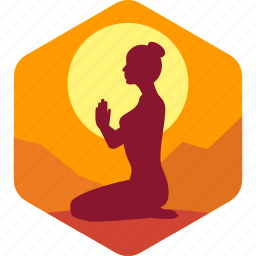 exercise, female, fitness, health, india, yoga icon