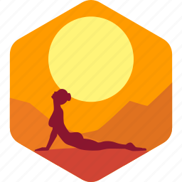 fitness, health, india, meditation, sun, yoga icon