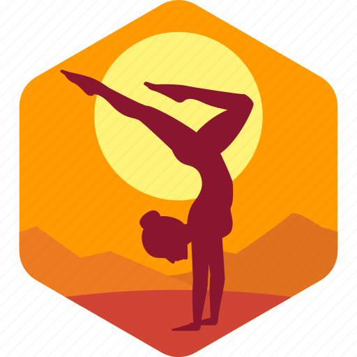 exercise, female, fitness, health, meditation icon