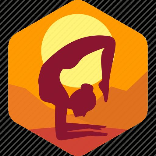 exercise, female, health, meditation, morning icon