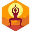 exercise, health, meditation, morning, yoga icon