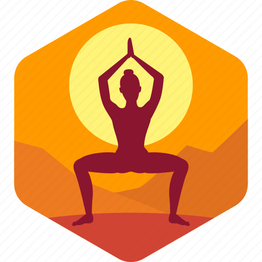 Health, meditation, yoga, exercise, morning icon