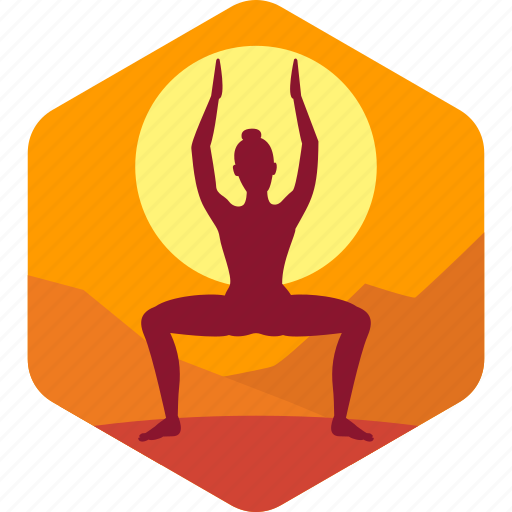 exercise, female, health, india, meditation icon