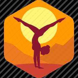exercise, female, fitness, health, lifestyle icon
