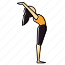 back, bend, meditation, namaskar, pose, suriya, yoga icon