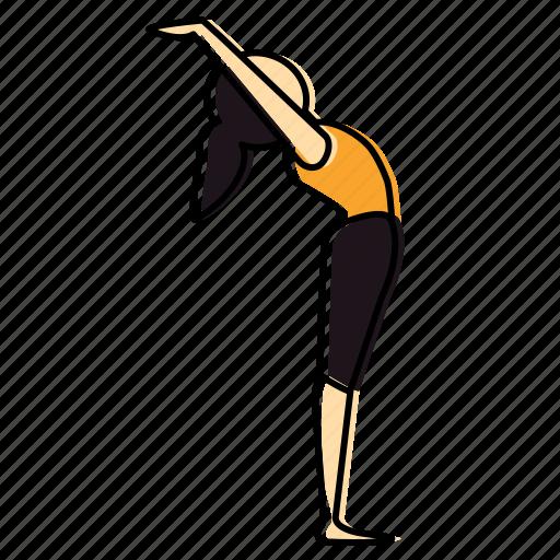 back, bend, meditation, namaskar, pose, suriya, yoga icon