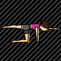 back, meditation, pose, yoga icon