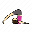 halasana, meditation, pose, yoga icon