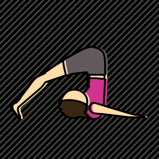 halasana, meditation, pose, yoga icon