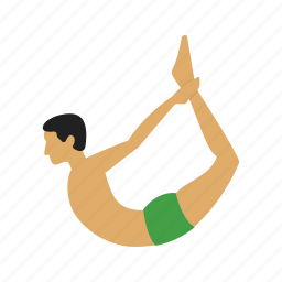 bow, exercise, fitness, healthy, pose, training, yoga icon