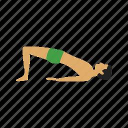bridge, exercise, fitness, pose, workout, yoga, young icon