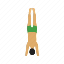 exercise, fitness, headstand, pose, training, yoga, young icon