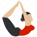 body, exercise, fitness, gym, meditation, poses, yoga icon