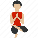 bodybuilding, exercise, fitness, health, training, yoga icon