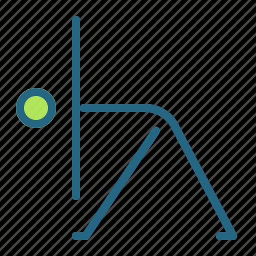 asana, extended triangle, health, yoga icon
