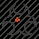 bio, hazard, science, sign icon