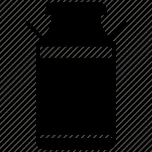 bottle, can, cow, farm, jar, milk, yumminky icon