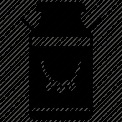 bottle, cow, farm, jar, milk, udder, yumminky icon