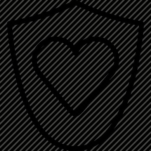 heart, love, medical, protection, shield, vitamins, yumminky icon