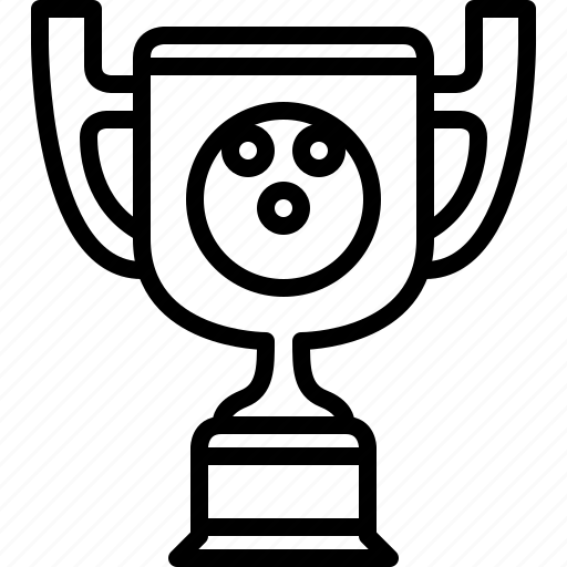 bowling, cup, prize, sport, trophy, winner, yumminky icon