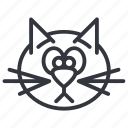 animal, cats, face, head, pet, sad, yummy icon