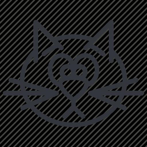 Animal, cats, face, head, pet, sad, yummy icon | Icon ...