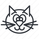 animal, cats, face, happy, head, pet, yummy icon
