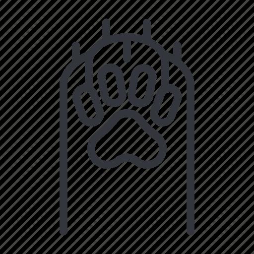 animal, cats, footprint, paw, paw bottom, pet, yummy icon