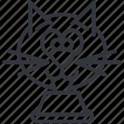animal, bowl, cats, drinking, head, pet, yummy icon