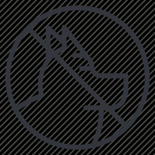 ban, dogs, head, no dogs, no walking, yummy icon