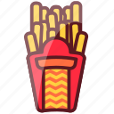 delicious, fastfood, ferench, food, fries, junk food icon