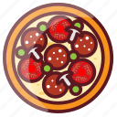 delicious, fastfood, food, junk food, pizza icon