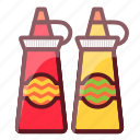 delicious, fastfood, food, junk food, sauces icon