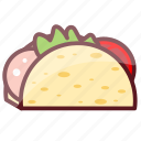 delicious, fastfood, food, junk food, tacos icon