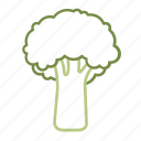 broccoli, brokkoli, chinese kale, food, vegetable, vegetables, veggie icon