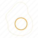egg, egg sunny-side up, egg sunnyside up, fried, fried egg, spiegelei, sunny side up icon