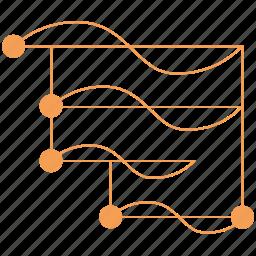 chart, data, diagram, graph, schedule, time scale, zachman icon